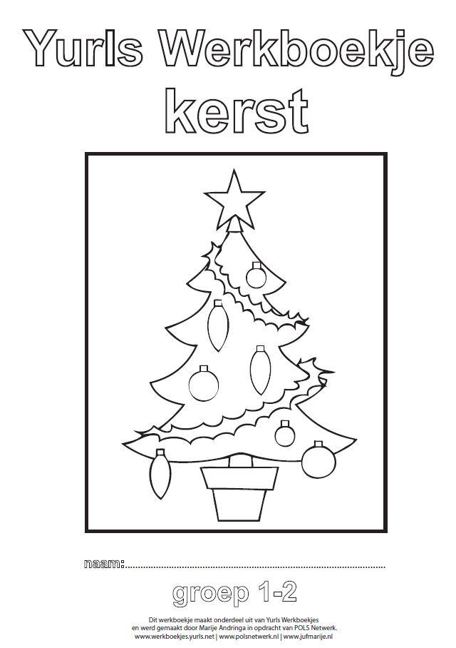 Knipsel werkboekje Kerst