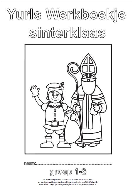 Knipsel werkboekje Sint