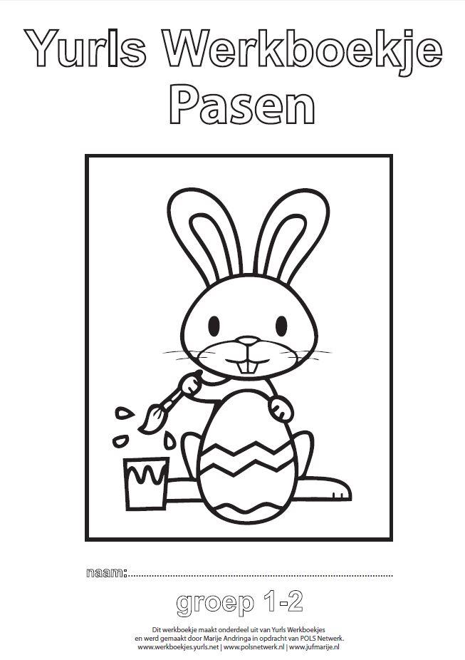 Knipsel yurls werkboekje Pasen